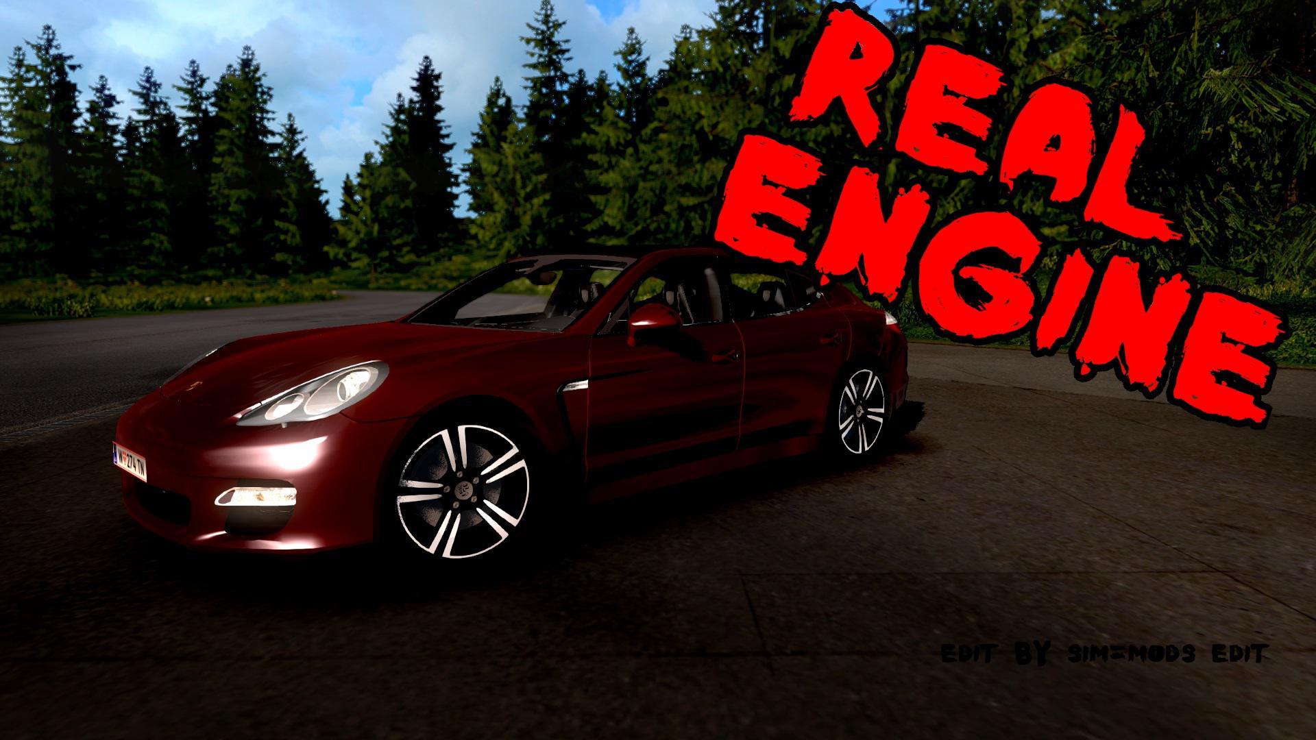 Porsche Panamera Turbo 2010 Real Engine 1 36 Ets 2 Mods